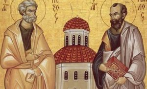 I santi apostoli Pietro e Paolo (s. Gregorio Palamas) – 29 Giugno
