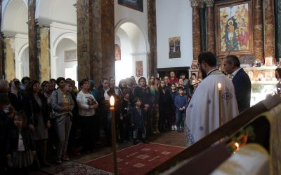 Vizita medicului  Allesandro Alberini în Parohia Sfântul Calinic de la Viterbo