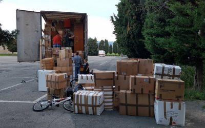 Parohia Giaveno – Transport de ajutoare în Parohia Pancesti, Județul Bacău