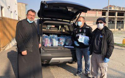 Ajutoare alimentare pentru 30 de familii la parohia Moncalieri protopopiatul Piemonte