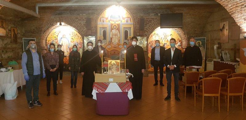 Acțiune de voluntariat la Parohia Sfânta Cruce, Torino 2
